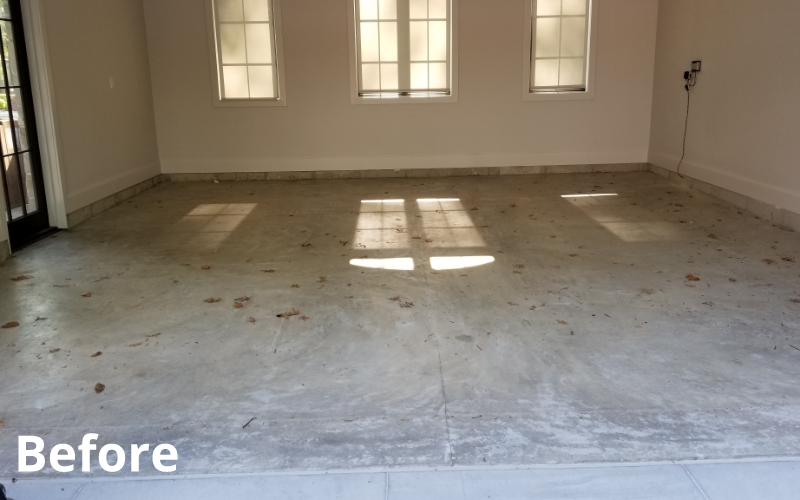 after concrete countertop treatment